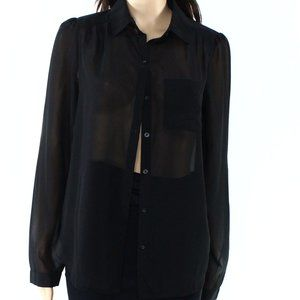Frenchi Nordstrom Women's Button Front Top Blouse